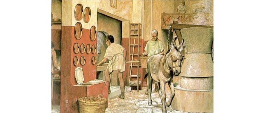 Ricostruzione di un panificio nell'antica Pompei