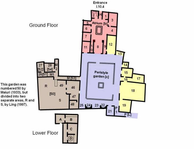 Casa del menandro pianta