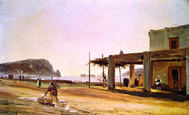 Antonio Pitloo - La spiaggia di Coroglio