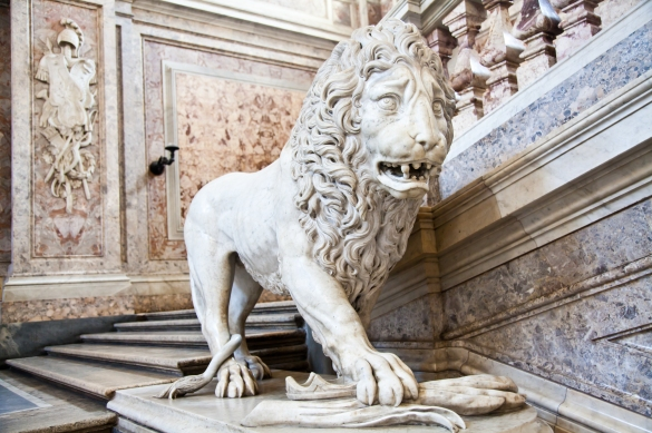 Lion in the Royal Palace of Caserta.jpg